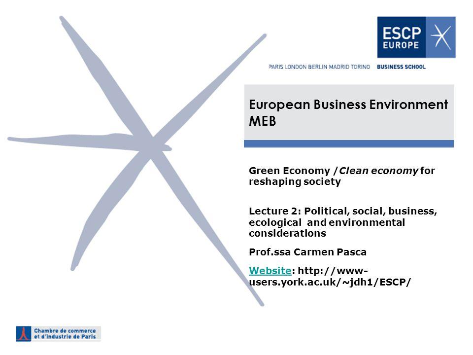 European Business Environment MEB