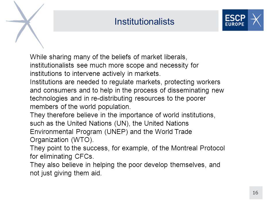 Institutionalists