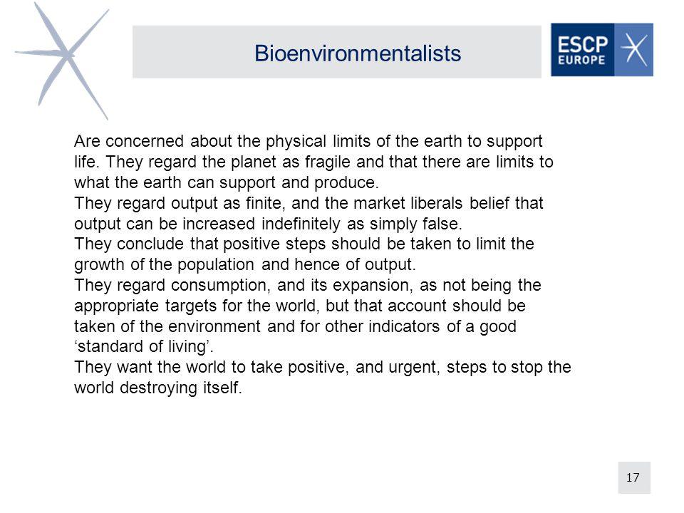 Bioenvironmentalists