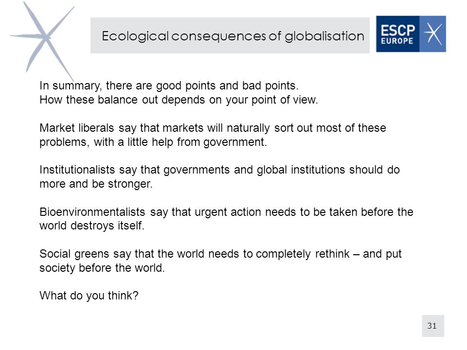 Ecological consequences of globalisation
