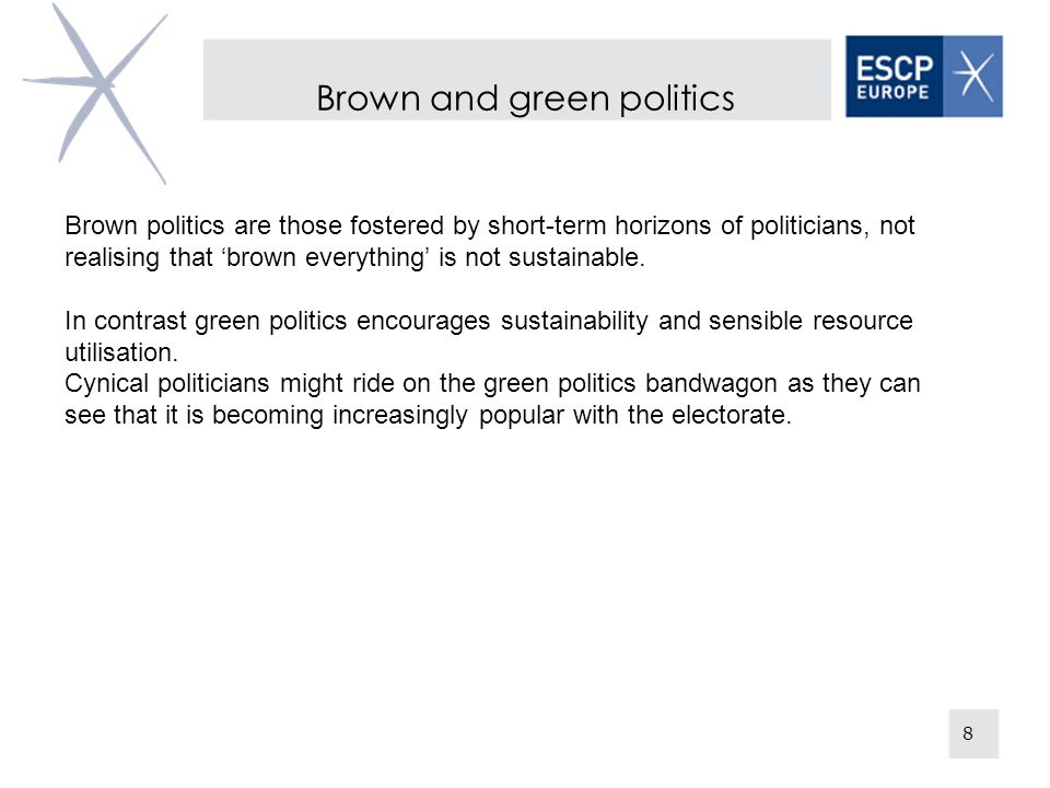 Brown and green politics