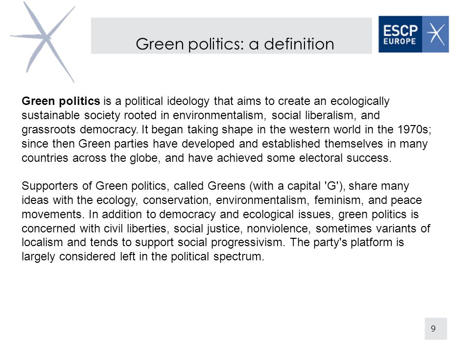 Green politics: a definition