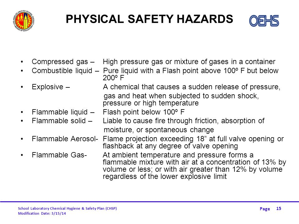 Physical Safety Hazards