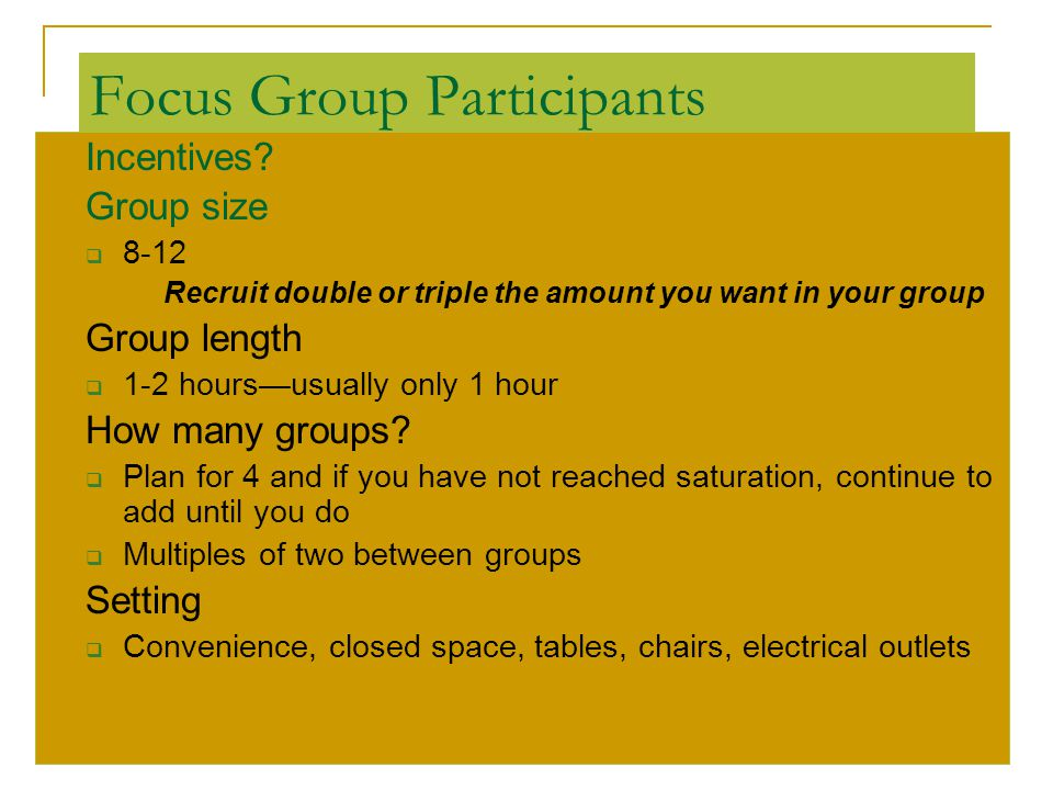 Focus Group Participants