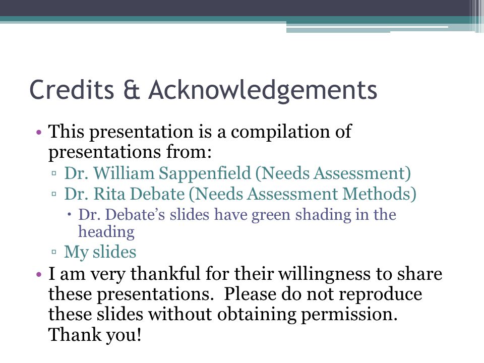 Credits & Acknowledgements