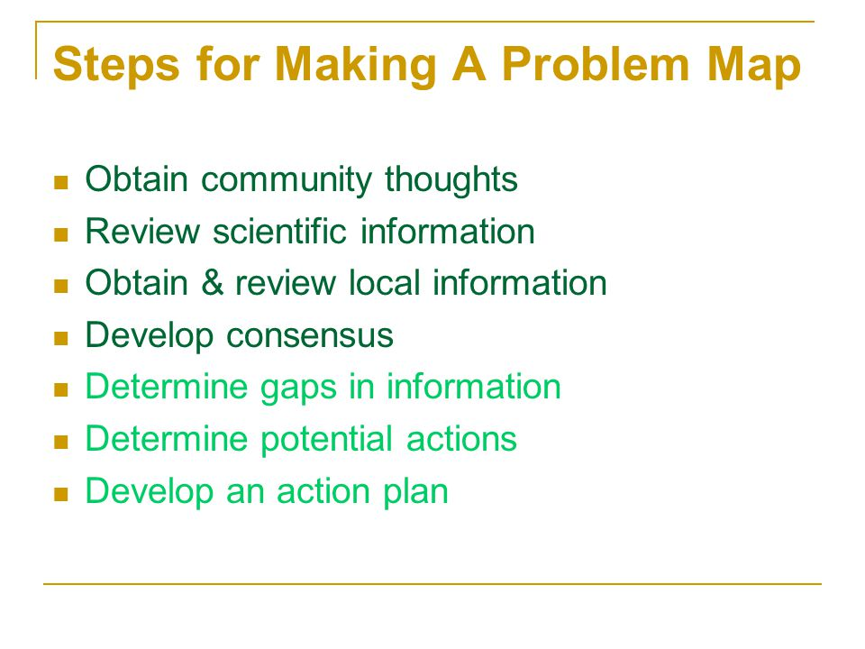 Steps for Making A Problem Map