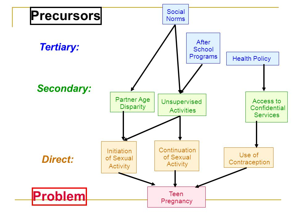Precursors Problem Tertiary: Secondary: Direct: Social Norms After