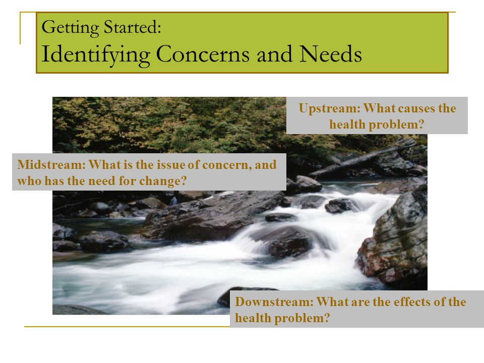 Getting Started: Identifying Concerns and Needs