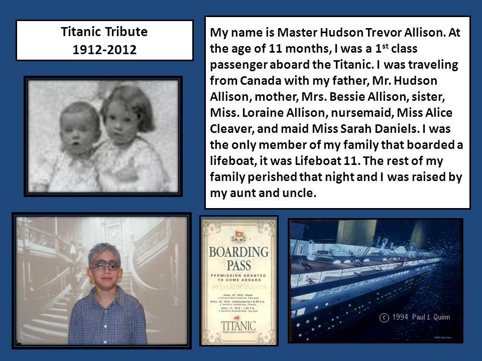 My name is Master Hudson Trevor Allison