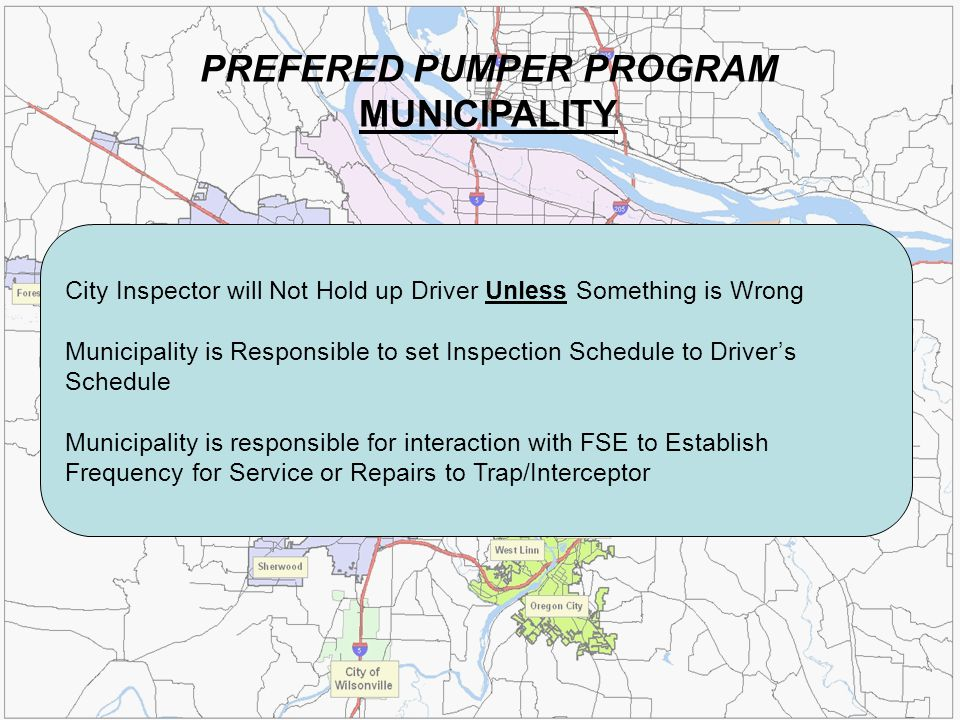 PREFERED PUMPER PROGRAM MUNICIPALITY