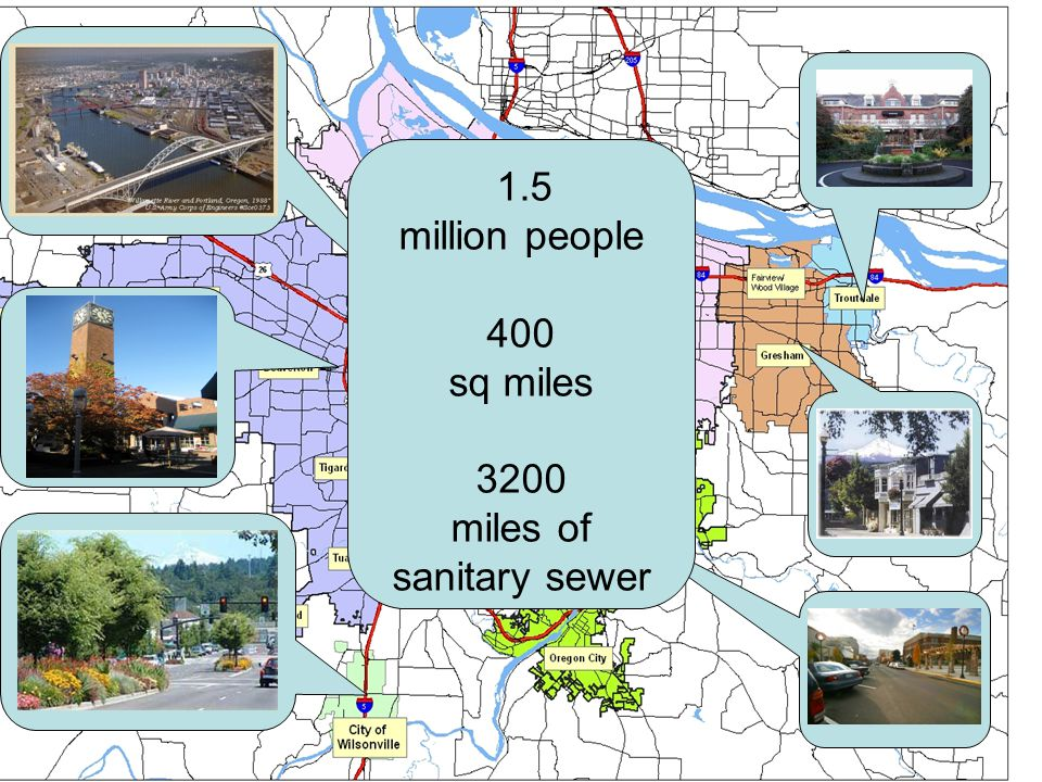 miles of sanitary sewer