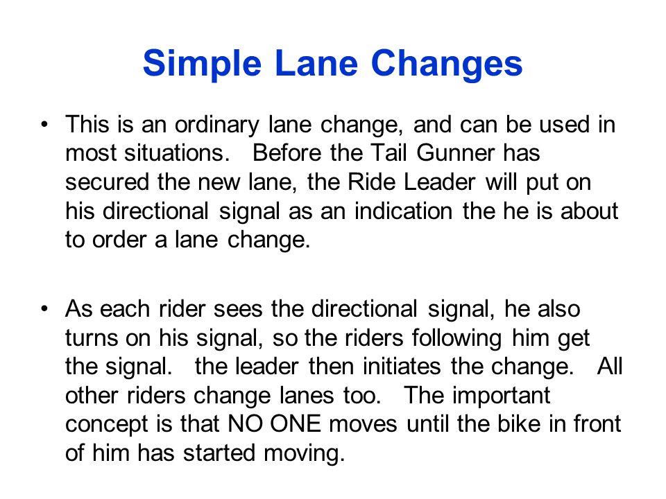 Simple Lane Changes