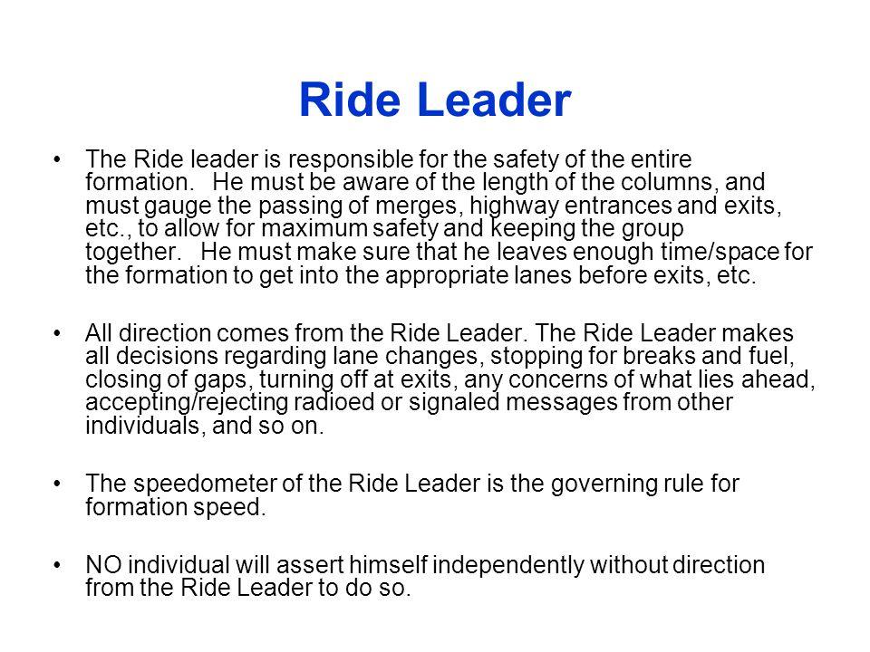 Ride Leader
