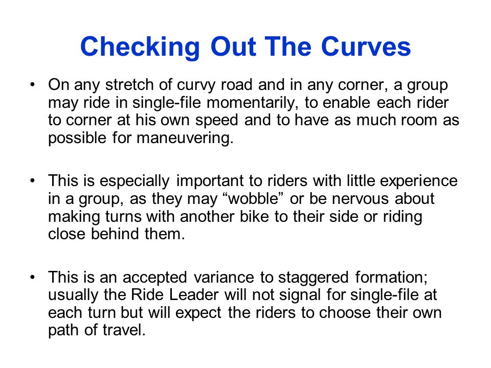 Checking Out The Curves
