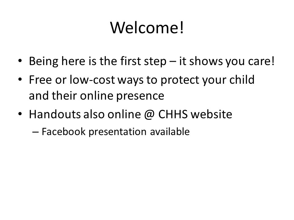 Welcome! Being here is the first step – it shows you care!