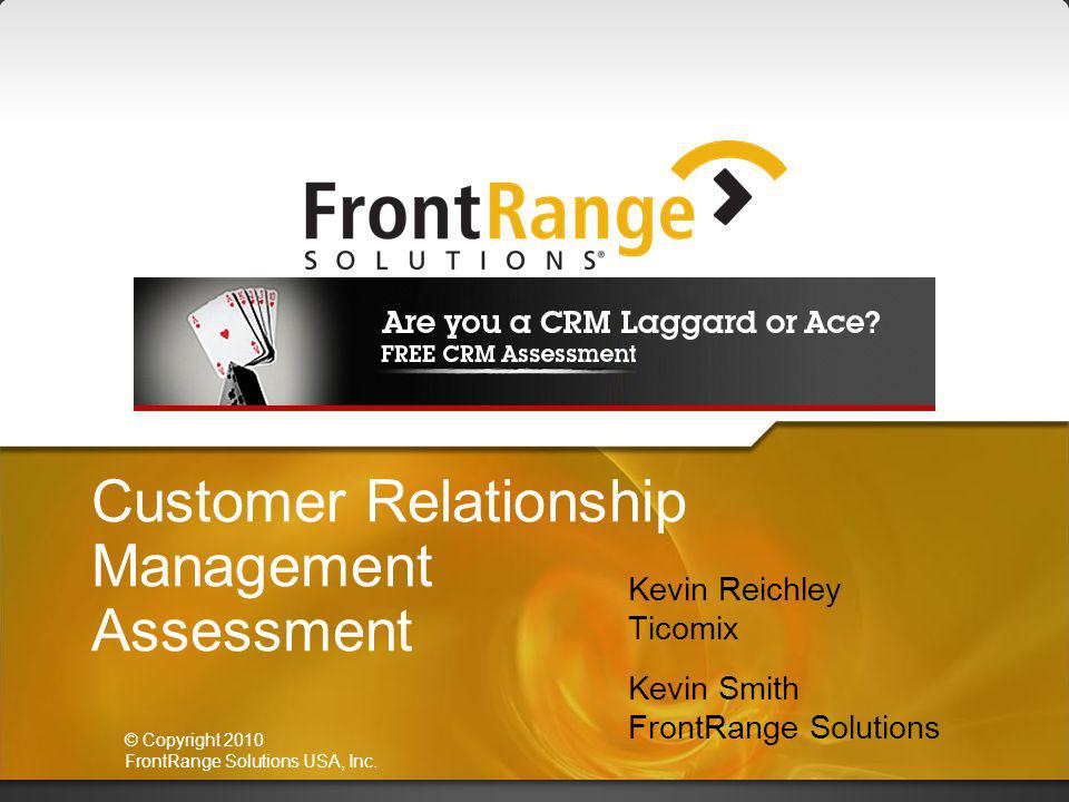 Customer Relationship Management Assessment