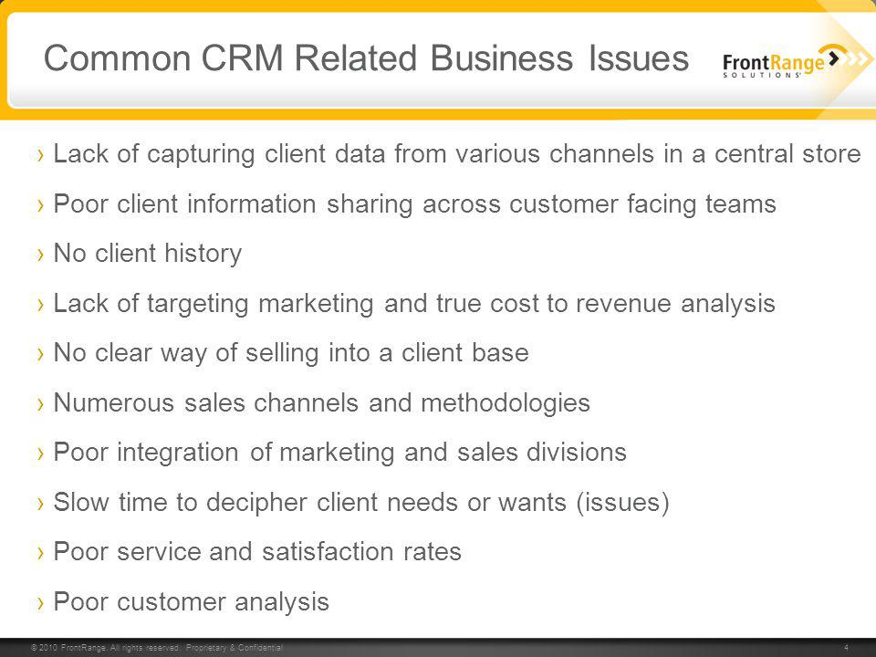 Common CRM Related Business Issues