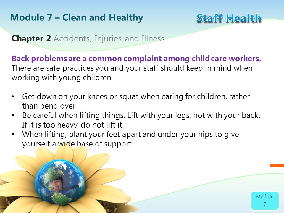 Staff Health Module 7 – Clean and Healthy