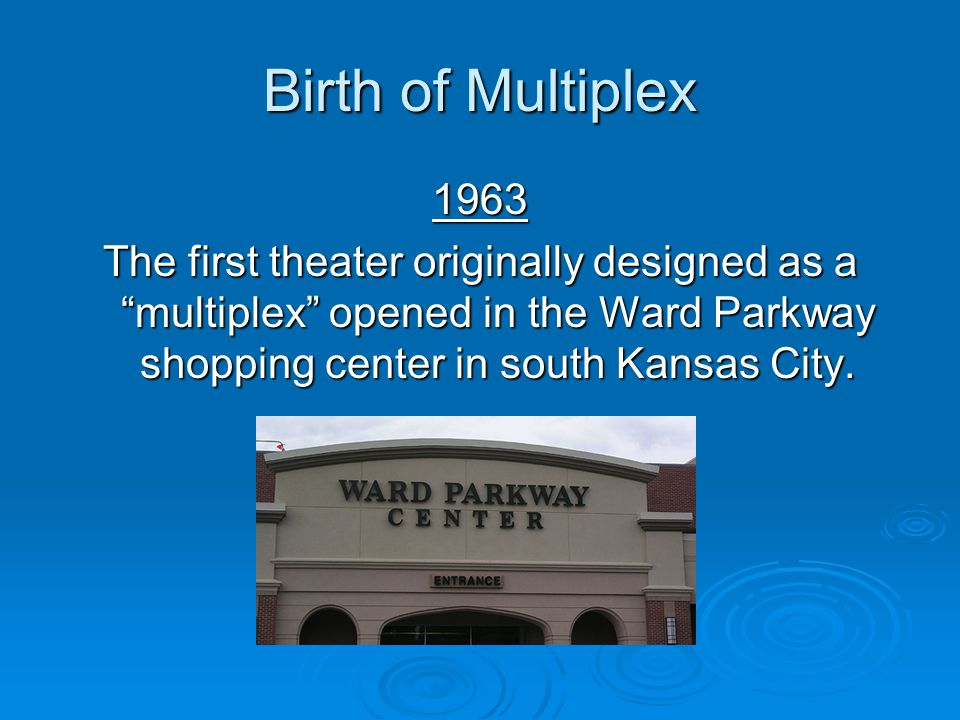 Birth of Multiplex 1963.