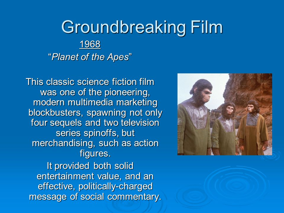 Groundbreaking Film 1968 Planet of the Apes