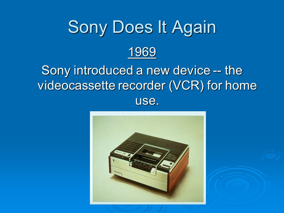 Sony Does It Again 1969.