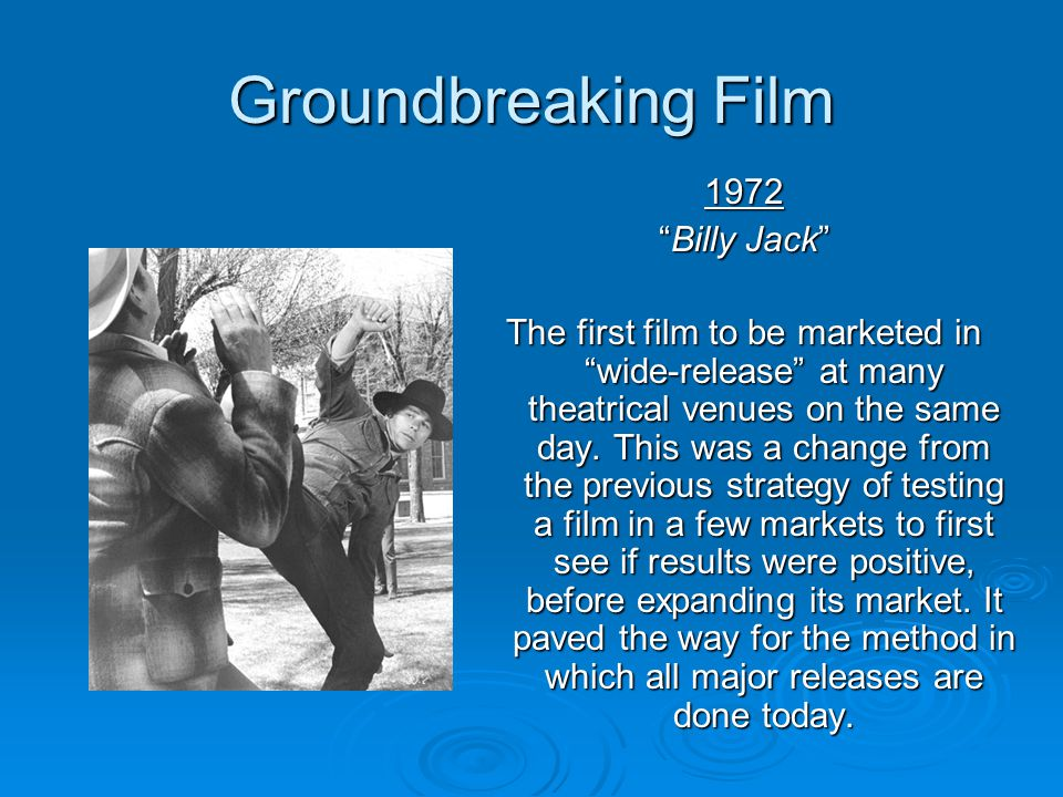 Groundbreaking Film 1972 Billy Jack