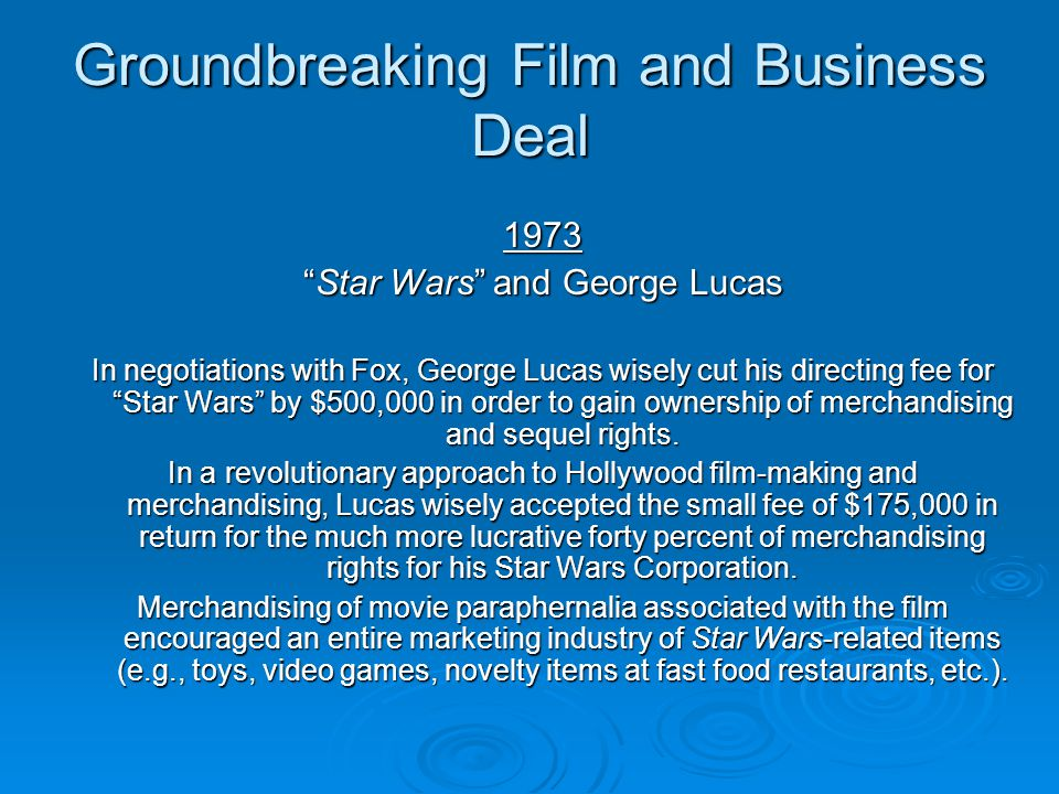 Groundbreaking Film and Business Deal