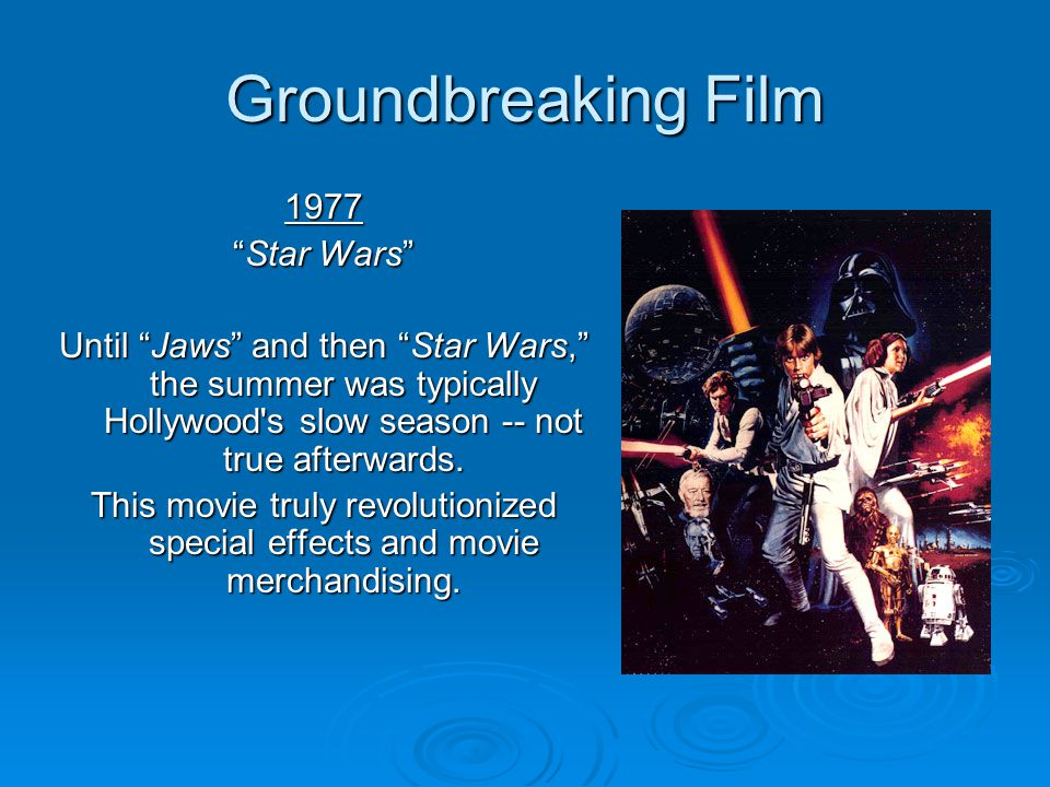 Groundbreaking Film 1977 Star Wars