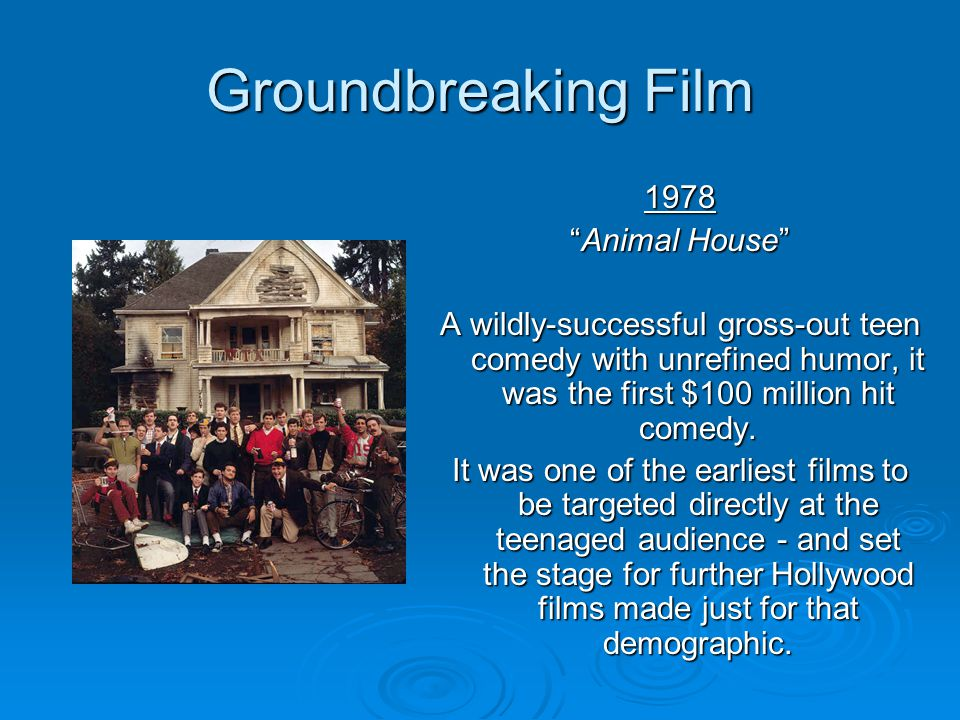 Groundbreaking Film 1978 Animal House