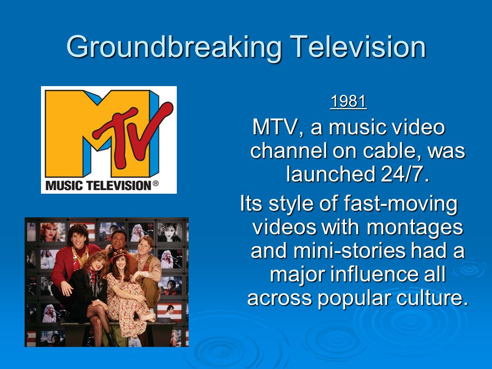 Groundbreaking Television