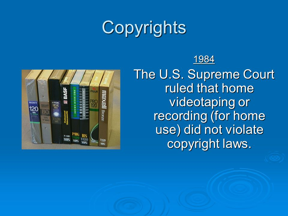 Copyrights 1984. The U.S.