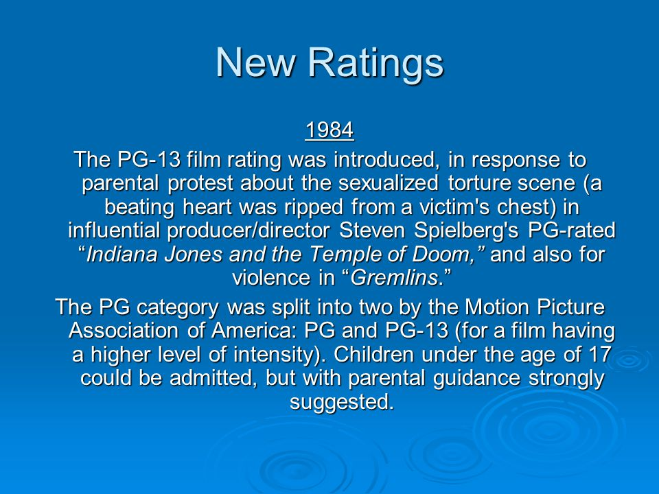 New Ratings 1984.