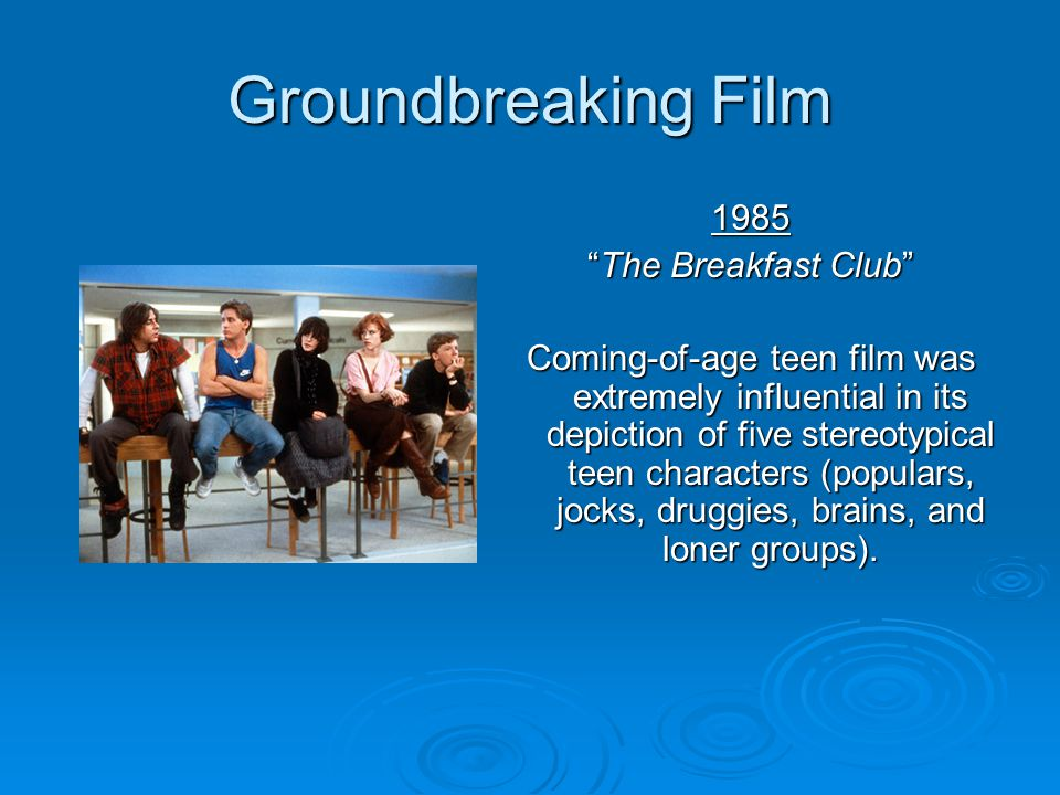 Groundbreaking Film 1985 The Breakfast Club