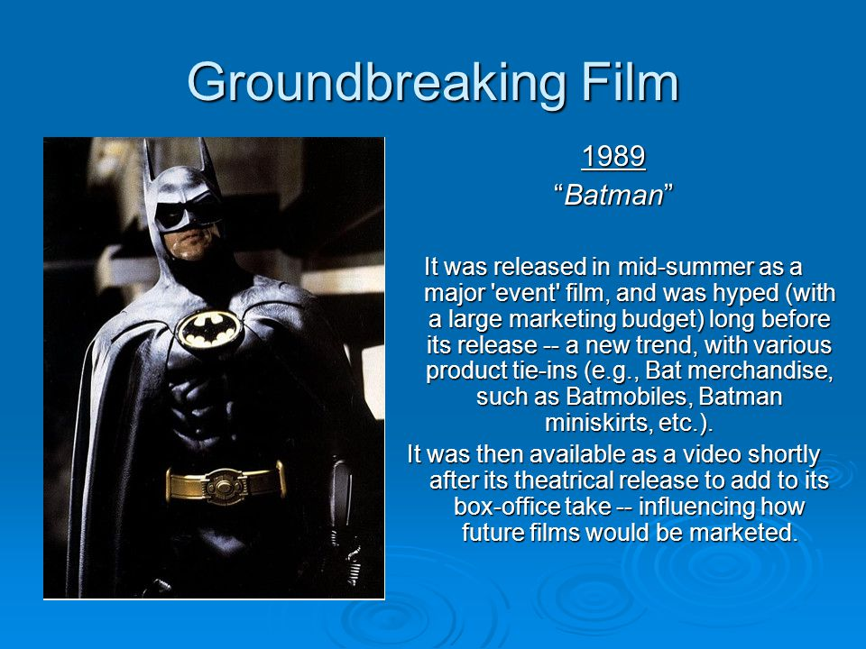 Groundbreaking Film 1989 Batman