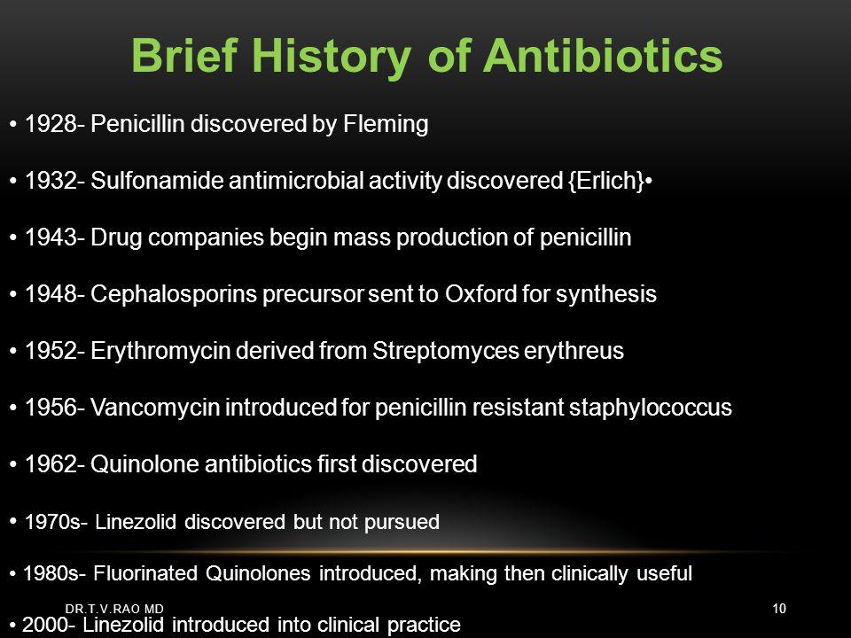 Brief History of Antibiotics