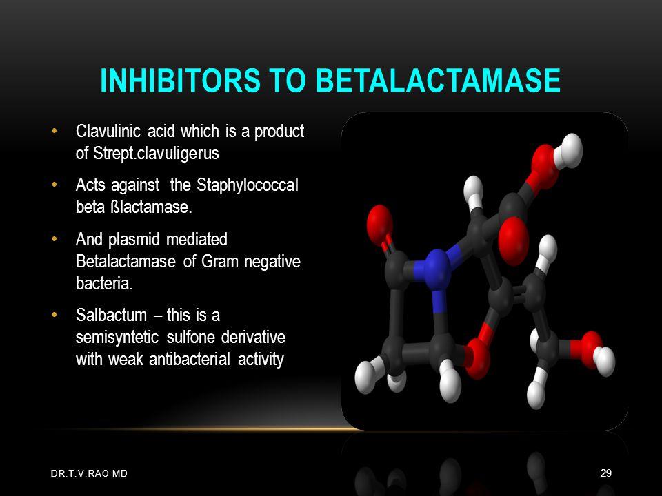 Inhibitors to Betalactamase