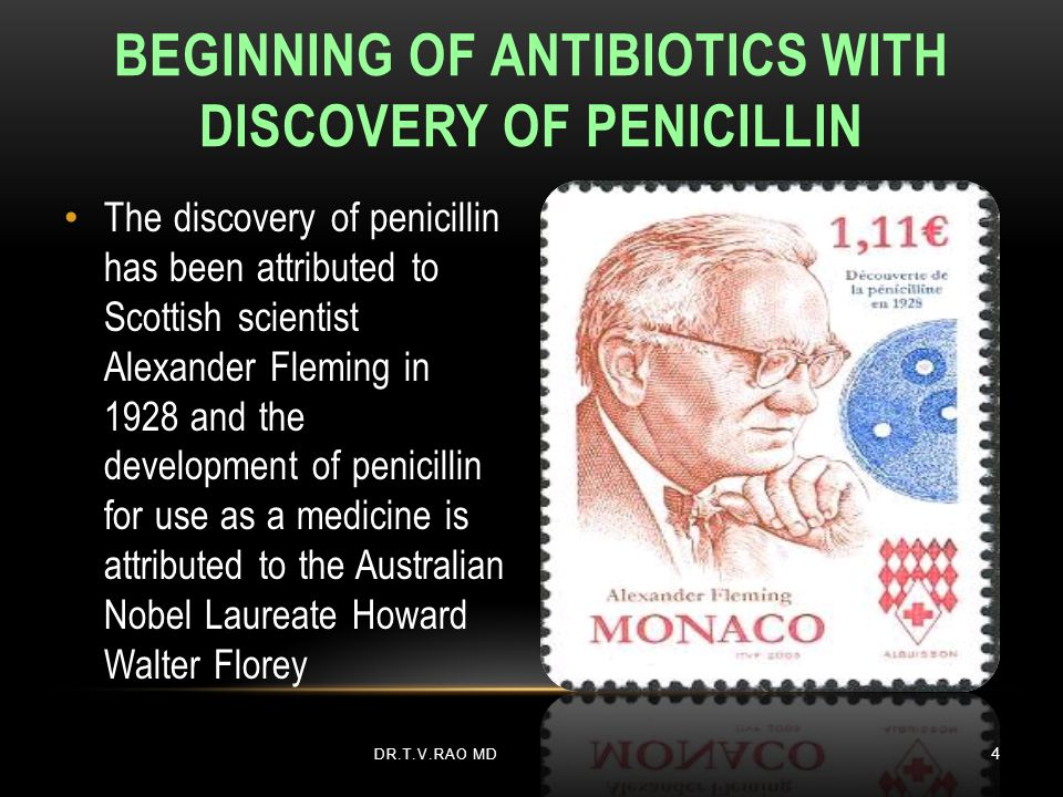 Beginning of Antibiotics with Discovery of Penicillin