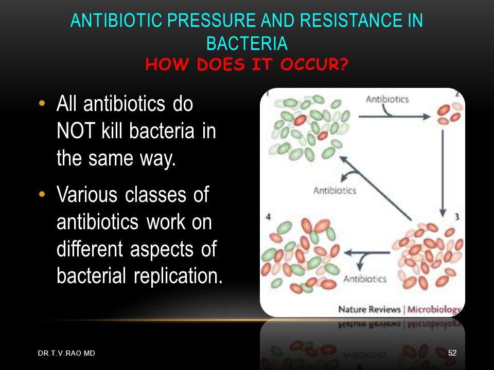 Antibiotic Pressure and Resistance in Bacteria How does it occur