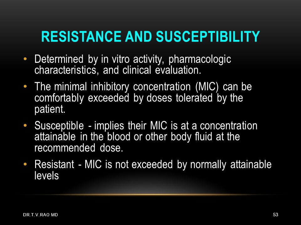 Resistance and Susceptibility