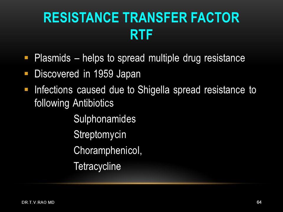 Resistance Transfer Factor RTF