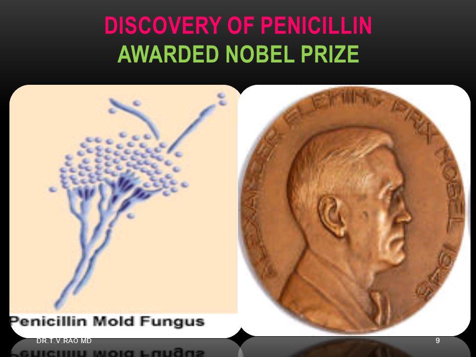 Discovery of Penicillin Awarded Nobel Prize