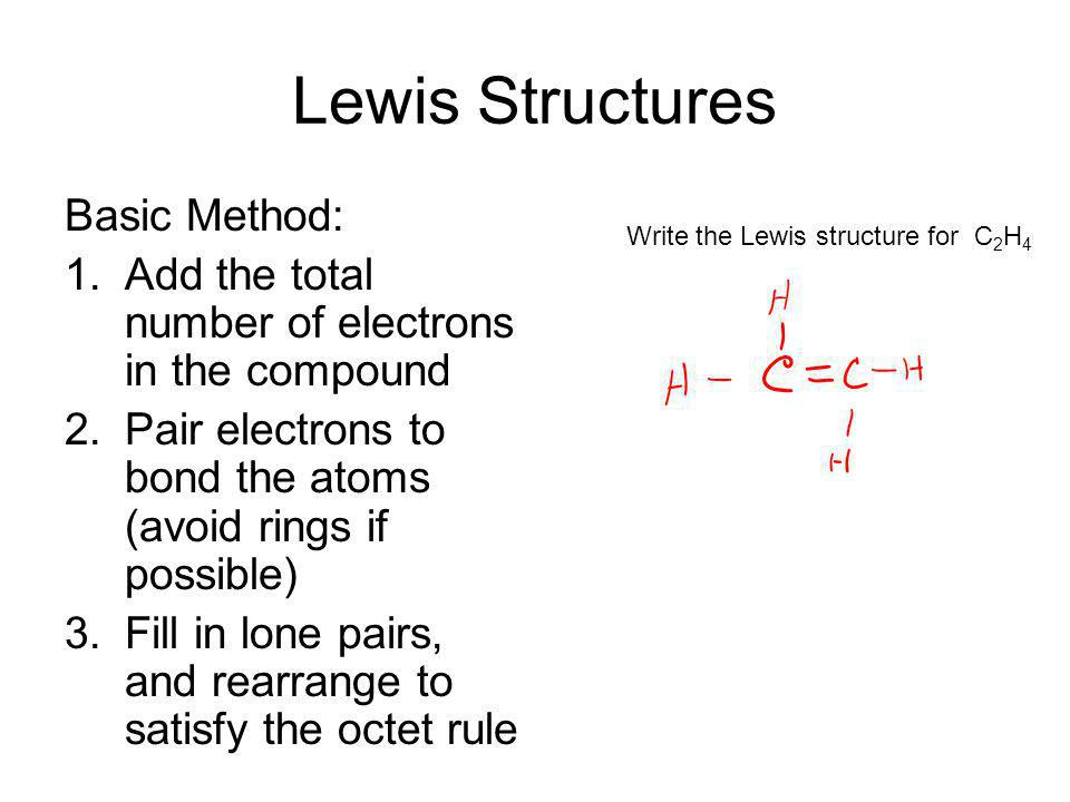 Lewis Structures Basic Method: