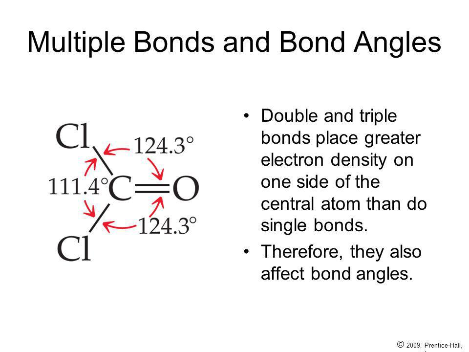 Multiple Bonds and Bond Angles