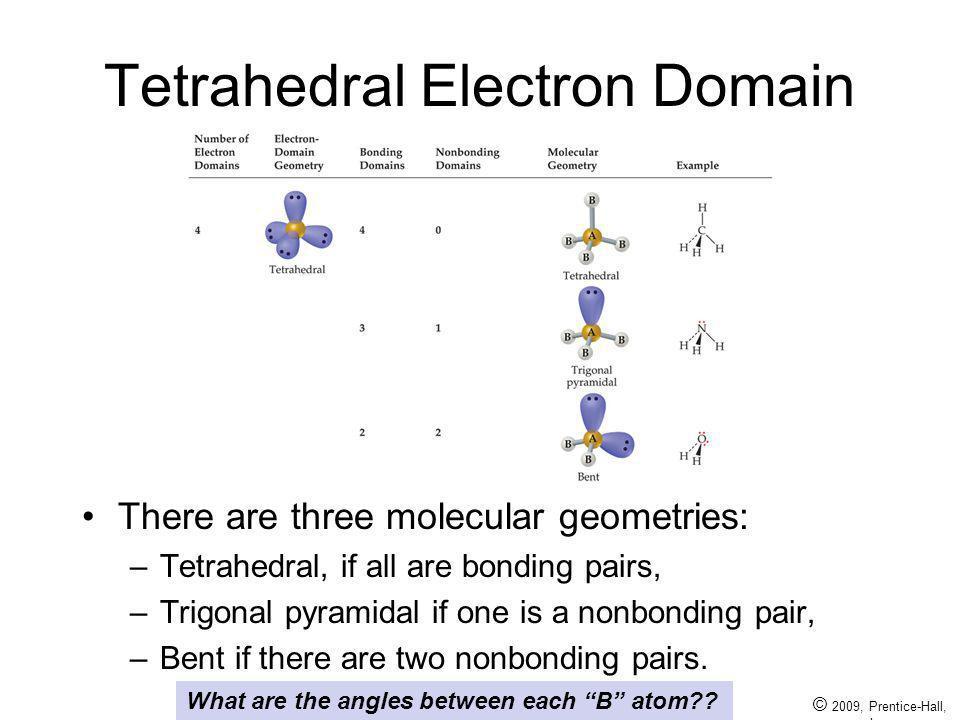 Tetrahedral Electron Domain