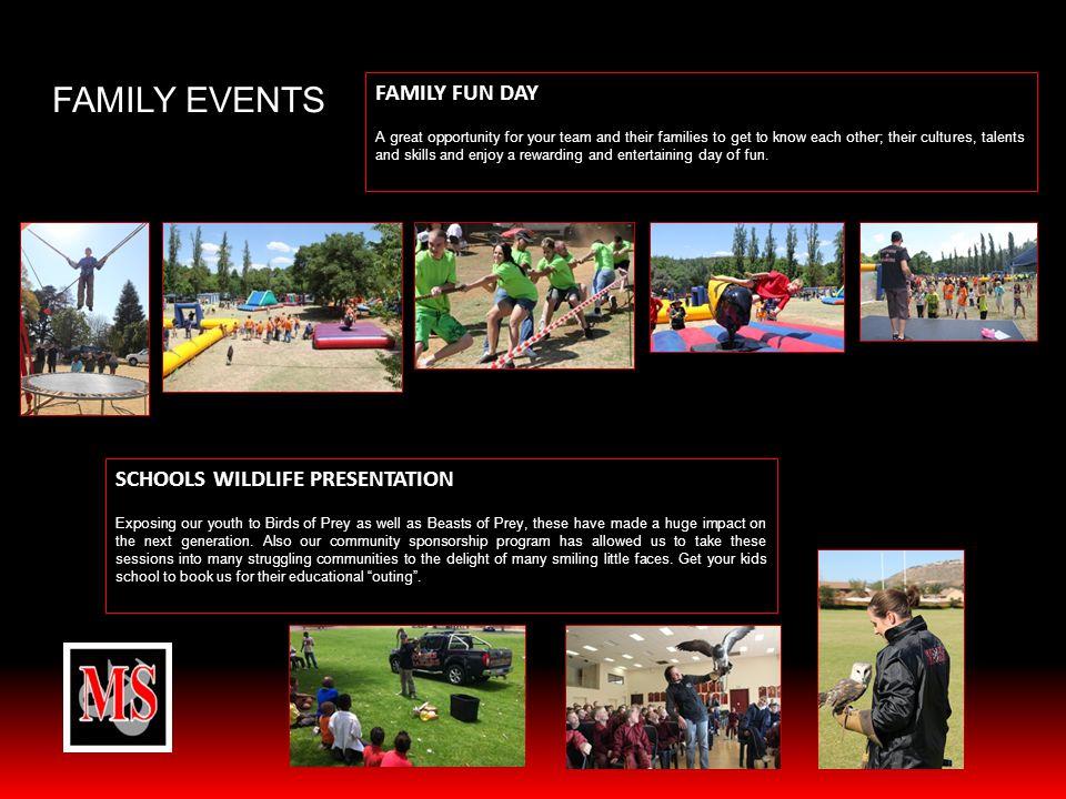 FAMILY EVENTS FAMILY FUN DAY SCHOOLS WILDLIFE PRESENTATION