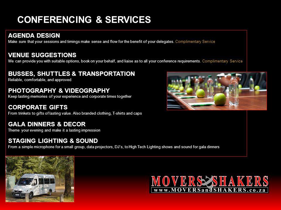 CONFERENCING & SERVICES