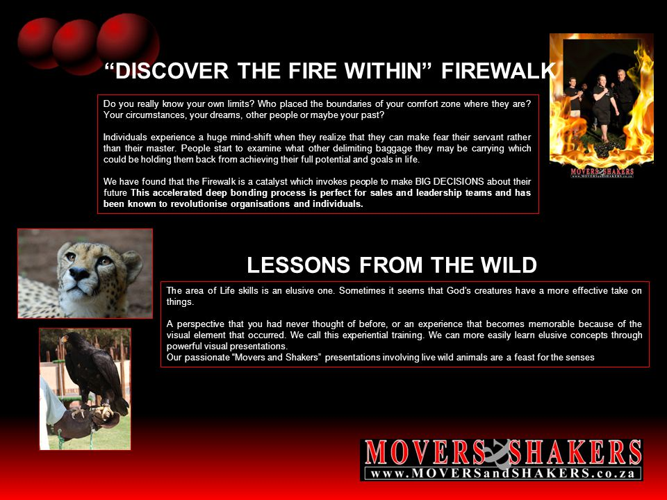 DISCOVER THE FIRE WITHIN FIREWALK