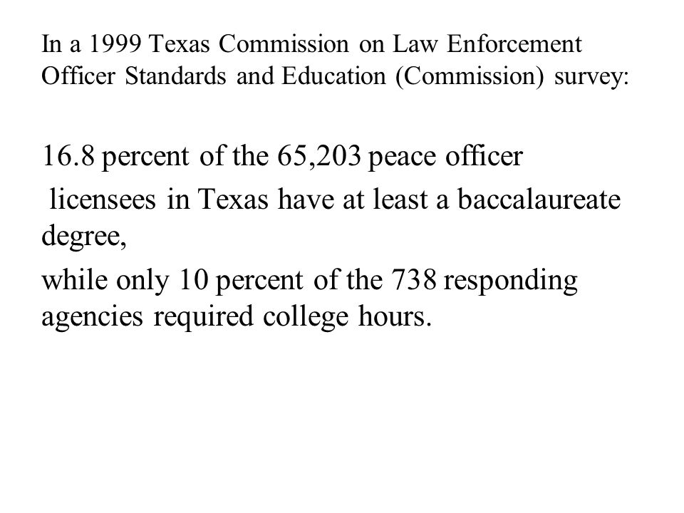 16.8 percent of the 65,203 peace officer