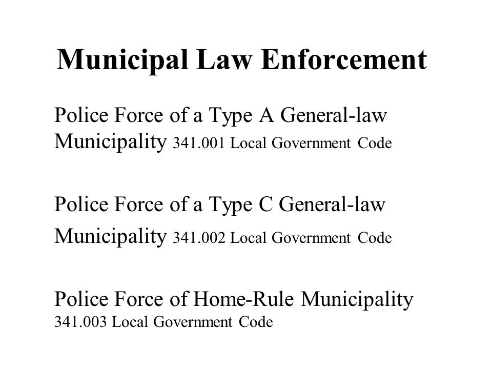 Municipal Law Enforcement