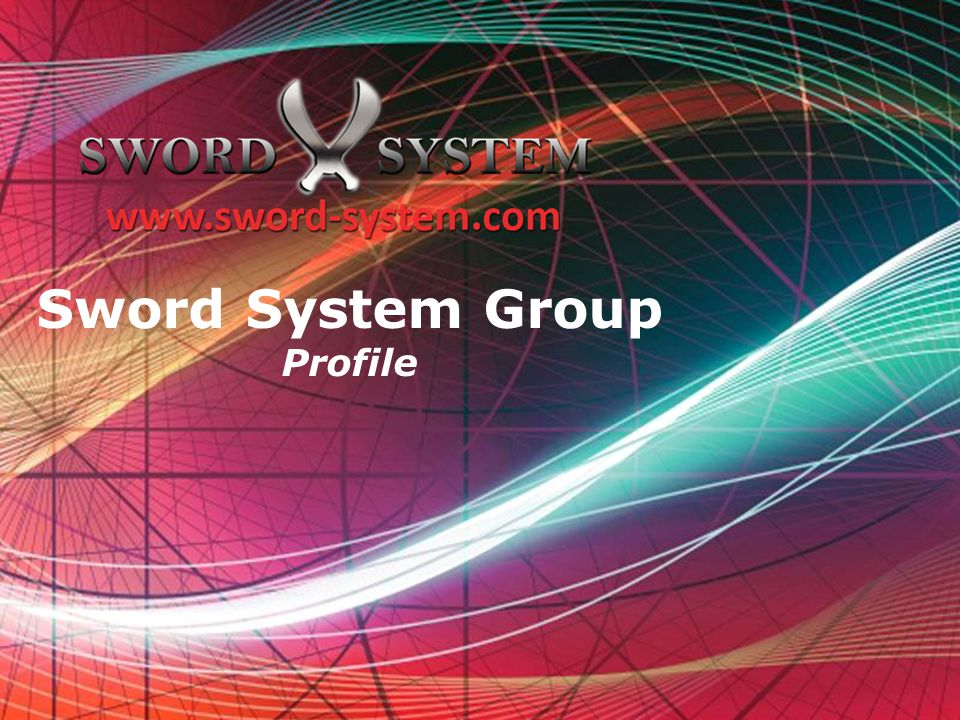 Sword System Group Profile Free Powerpoint Templates